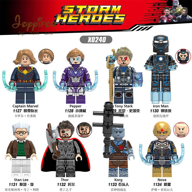 Rational Joyyifor Marvel Avengers 4 Legoinglys Captain Marvel Movie Figures Skrull Kory Thor Stab Lee Iron Man Building Blocks Kids Toys Toys & Hobbies