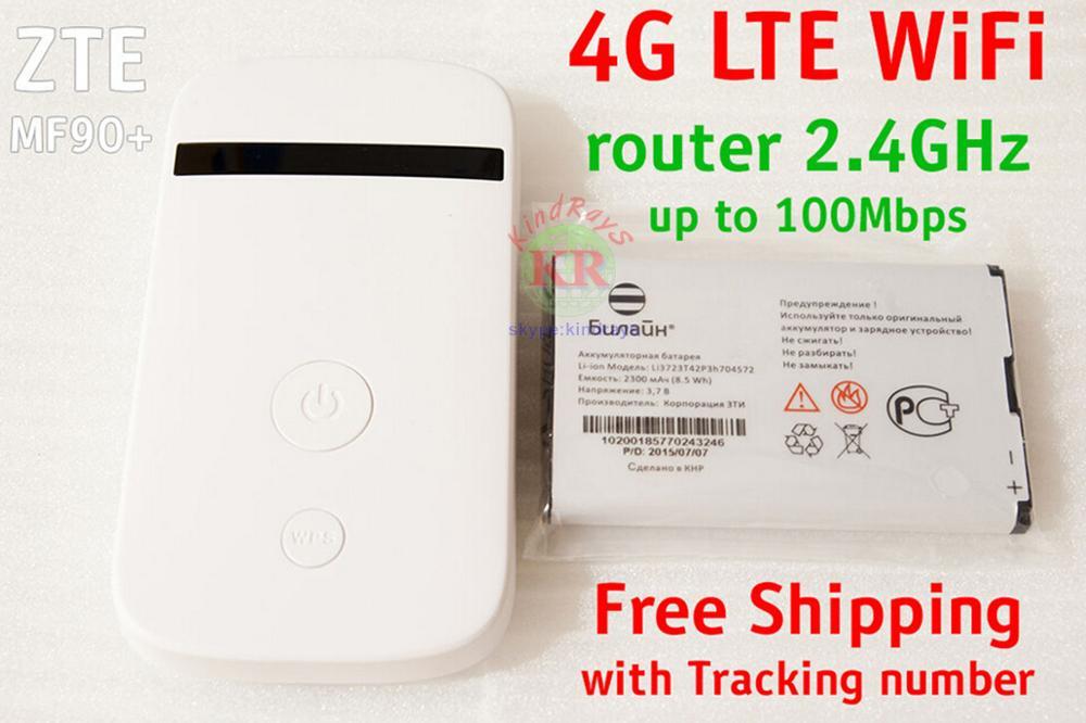 Unlocked Zte MF90 MiFi 4g Lte Wifi Router Support LTE FDD 800/1800/2600MHz Pk Mf190 Mf970 Mf823 Mf831
