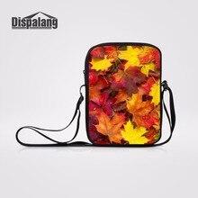 92aa7d26c Dispalang Maple Leaves Impressão 3D Mulheres Messenger Bags Crianças Diário  Crossbody Sacos de Mini Sacos Bolsa