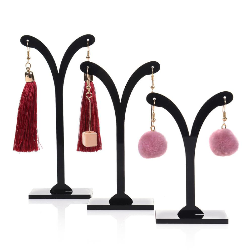 Hot 3Pcs Crotch Earring Ear Studs Jewelry Rack Display Stand Storage Hanger Holder Earrings Ewelry, Durable Hanging Bracket