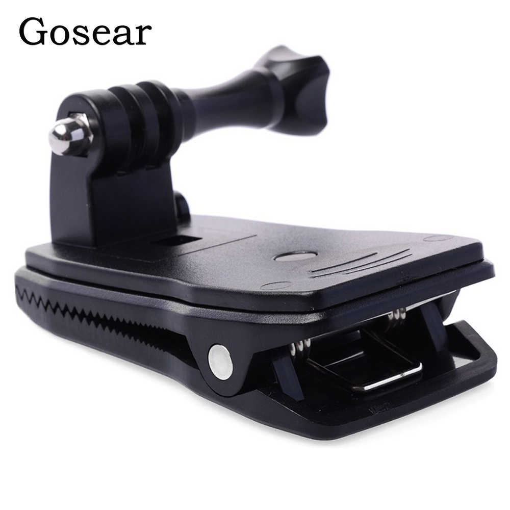 Gosear cabeça cinto cinta clipe braçadeira suporte de montagem adaptador haste para gopro go pro herói 5 4 3 2 xiaomi yi 2 ii 4 k 4 k sj4000 eken h9