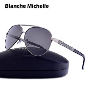 Image 3 - Blanche Michelle Pilot Polarized Sunglasses Men 2020 Brand Mirror Sun Glasses Driving UV400 Alloy Gafas De Sol Oculos With Box