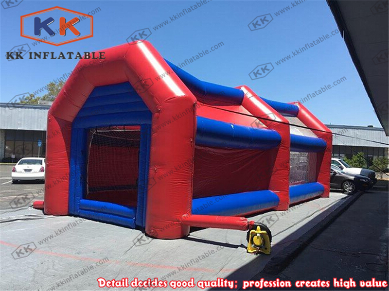 Outdoor inflatable baseball batting cages for rental sport games