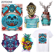 ZOTOONE Stripes Iron on Transfer Patches Clothing Diy Punk Dog Patch Heat for Clothes T-shirts Girl Sticker I