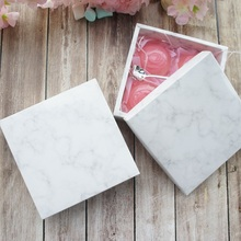 high quality 14*14*5cm 10pcs marble design Cheese chocolate Paper Box wedding party cookie candy Macarons Snacks Packing