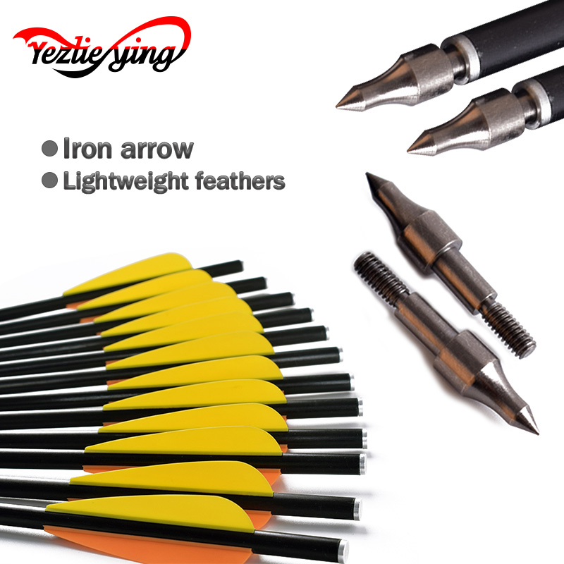 Target Fiberglass Arrows Crossbow Bolt 16 /18/20 inch Crossbow Bolts Carbon Arrow for Archery Hunting Shooting