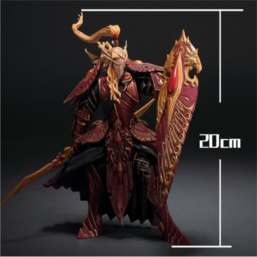 Blood Elf Paladin Doll Model Toy PVC Anime Action Figure Collectible Doll Model Juguetes Kids Toys Gifts naruto kakashi hatake action figure sharingan ver kakashi doll pvc action figure collectible model toy 30cm kt3510