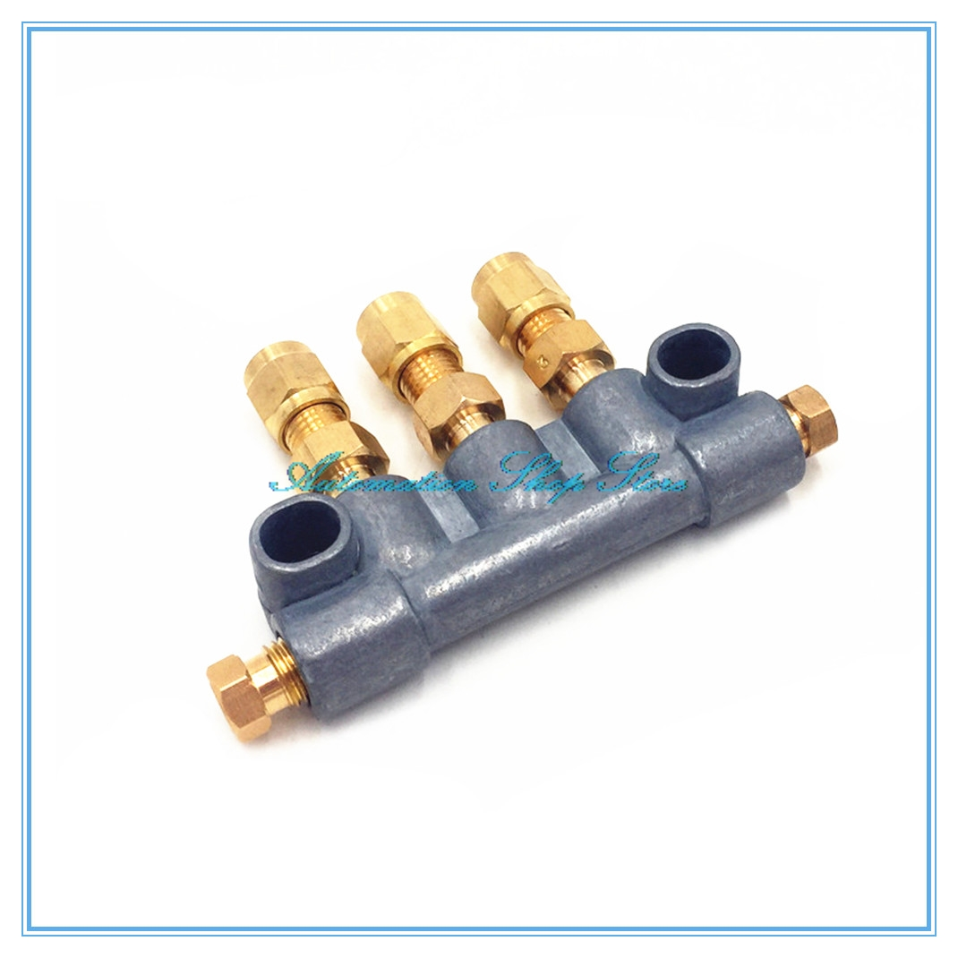 4mm Tube A Type Volume Adjustable Oil Distributor/seperator Valve/divider For Centralized Lubrication/Unidirectional Gauge