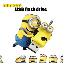 100% real capacity minions pen drive 3 model USB flash drive cartoon usb stick 16g/8g/4g/2g flash memory stick flash card
