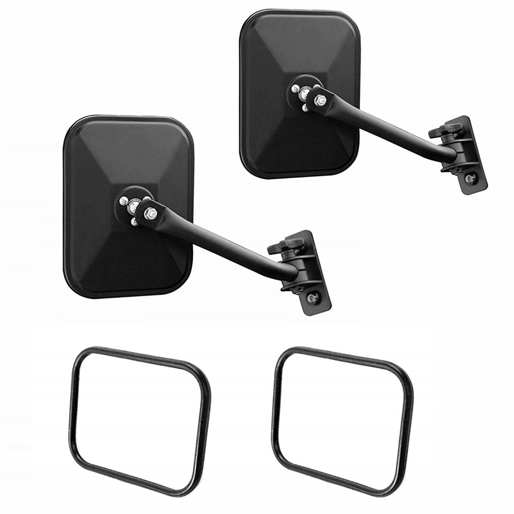 {2PCS}Doors off Side Mirrors 4x4 Doorless Left /& Right Round Mirrors for Jeep Wrangler Side Mirrors for Jeep Qucik Release Mirrors for Jeep TJ JK-JKU CJ JL Textured Black 1 Pair