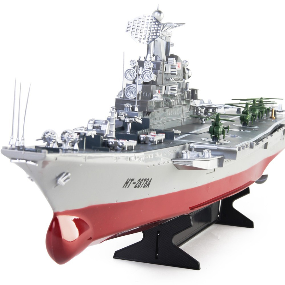 Free EMS Shipping 1:275 Scale Model Challenger Aircraft Carrier Radio  Remote Control High Simulation Large RC Warship Toys