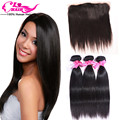 Straight Virgin Hair with Frontal Malaysian Straight Hair 3 Bundle Deals with Lace Frontal Human Hair Bundles Cheap Weave Online