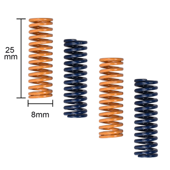10pcs 3D Printer Parts Spring For Heated bed MK3 CR-10 hotbed Imported Length 25mm OD 8mm ID 4mm For 3D Printer