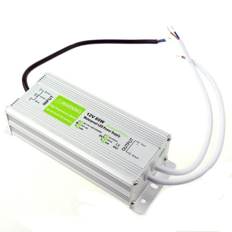 Оптовая продажа DC 12V 80W IP67 Водонепроницаемый Электронный светодиодный трансформатор swiching источник питания AC 90 250V до 12V