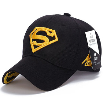 2017 Vogue Sports Diamond Superman Baseball Caps Outdoor Golf Vintage Embroidery Snapback Hat Hip Hop Casual Hats Wholesale 25