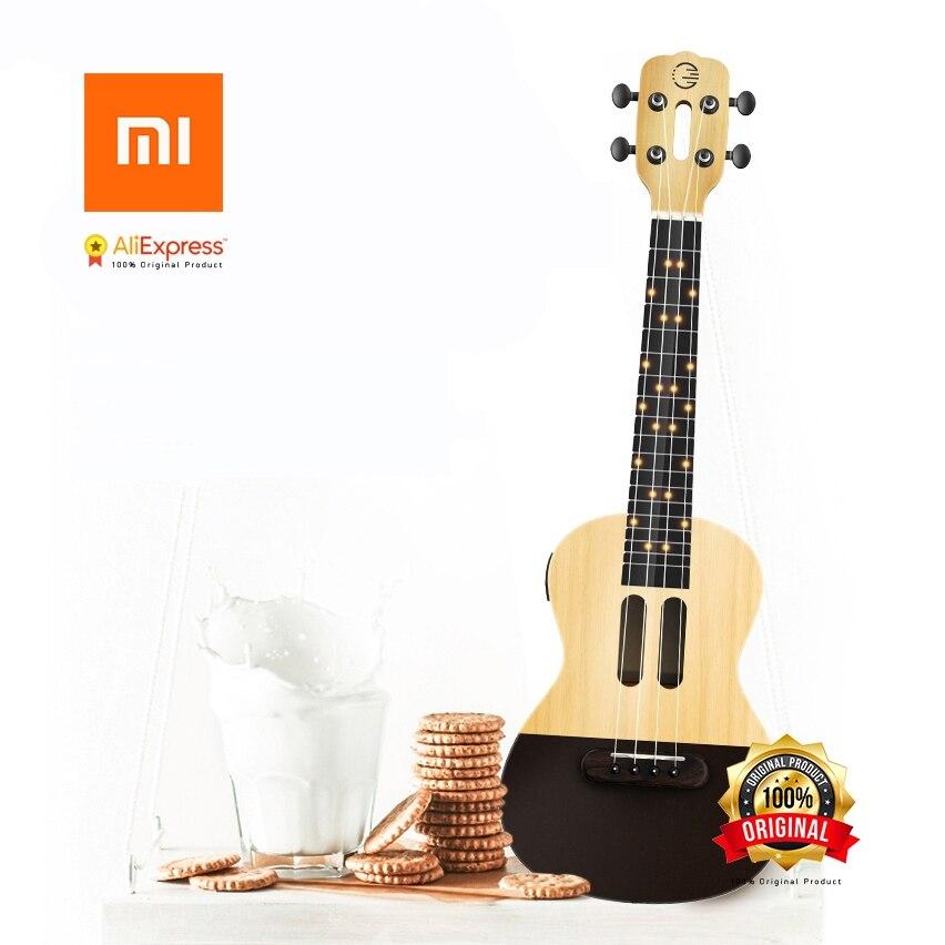Xiaomi Populele U1 inteligente Ukulele APP 23 pulgadas teléfono inteligente ukulele Uke para principiantes regalo Adapterization 4 cuerdas guitarra
