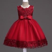 1 2 3 4 5 6 7 8 9 10 Ans Enfants Vêtements Bébé Filles Robe D'été Enfants Robes De Mariée pour Filles Parti Robes De Soirée Fleur