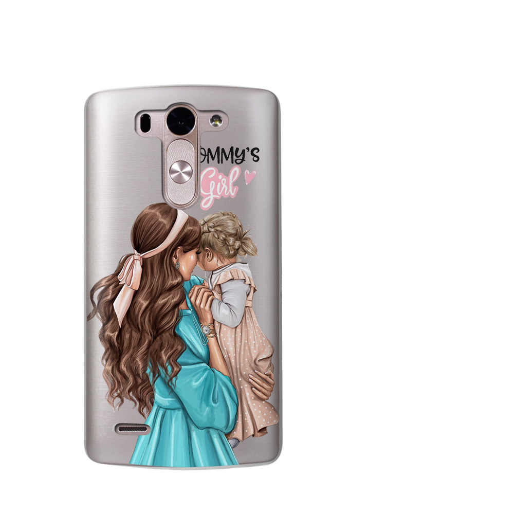 Мамы принцессы для маленьких девочек; сезон лето queen фонды для LG G6 Q6 чехол для телефона G3 G4 G5 G7 Coque XPower 2 V30 Q8 K7 K8 K10 2017 футляр