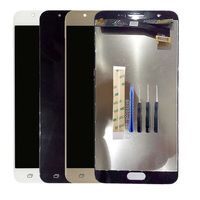 Touch Screen Digitizer Glass + LCD Display Panel Assembly For Samsung Galaxy J7 Prime LCD G610 G610F adjustable Brightness