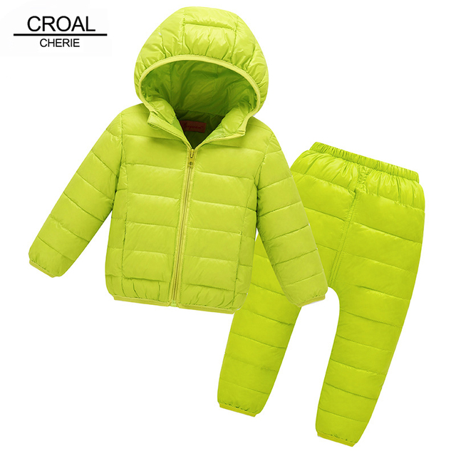 06707b1ce1862 CROAL CHERIE Kids Winter Clothes Sets Warm Cotton Coat + Pants For Boys  Winter Children Jacket