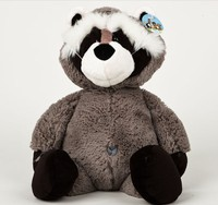 Plush doll 1pc 45cm big tail raccoon Procyon lotor hold pillow home decoration stuffed toy creative gift for baby