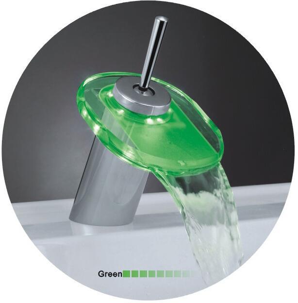 Латунный кран стекло горячей и холодной, один держатель Ванная комната раковина бассейна кран, Медь умывальник смеситель вытащить