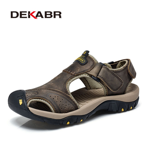 Image 5 - DEKABR Mens Sandals Genuine Leather Summer 2020 Brand New Beach Men Wading Water Sandals Breathable Slippers Men Casual Shoes