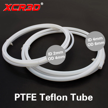 XCR3D 3D Printer Parts PTFE Tube Teflon Pipe 4*2 6*4 for 1.75/3mm filament 1 meter White Feed Tube J-head hotend Bowden Extruder 3d printer hot end 2 in 1 out switch color bowden extruder parts xcr3d 2in1 s1 hotend j head 12v 24v 1 75mm filament cooling fan
