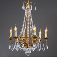 Nordic LED Copper Brass Chandelier Lights European Luxurious Classical Style Copper Art Chandelier For Bedroom dining room