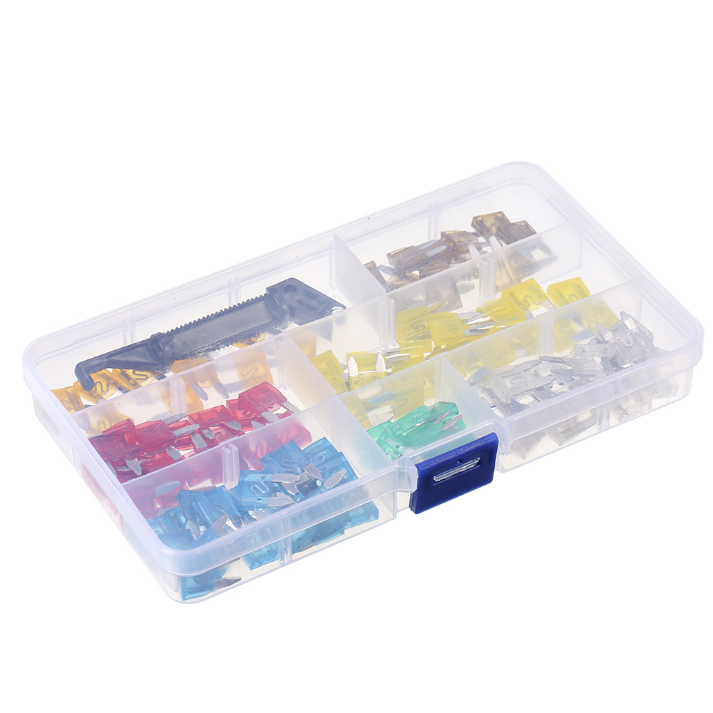 240pcs Mini Middle Size Fuse Blade Holder Box Car Vehicle Circuit Bad 30 Amp 15 75amp X Light Gray 20 10amp Red 15amp Blue 25 20amp Yellow 25amp White 10 30amp Green 1 Black