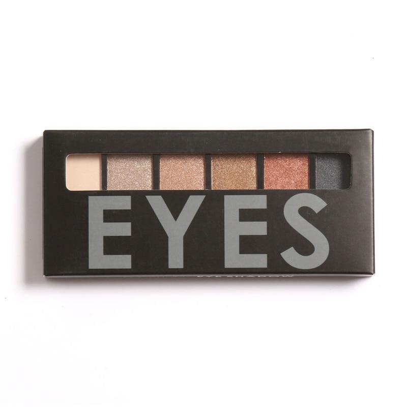 FOCALLURE 6 colores Shimmer Matte Eyeshadow Palette Sombra de ojos de - Maquillaje - foto 4