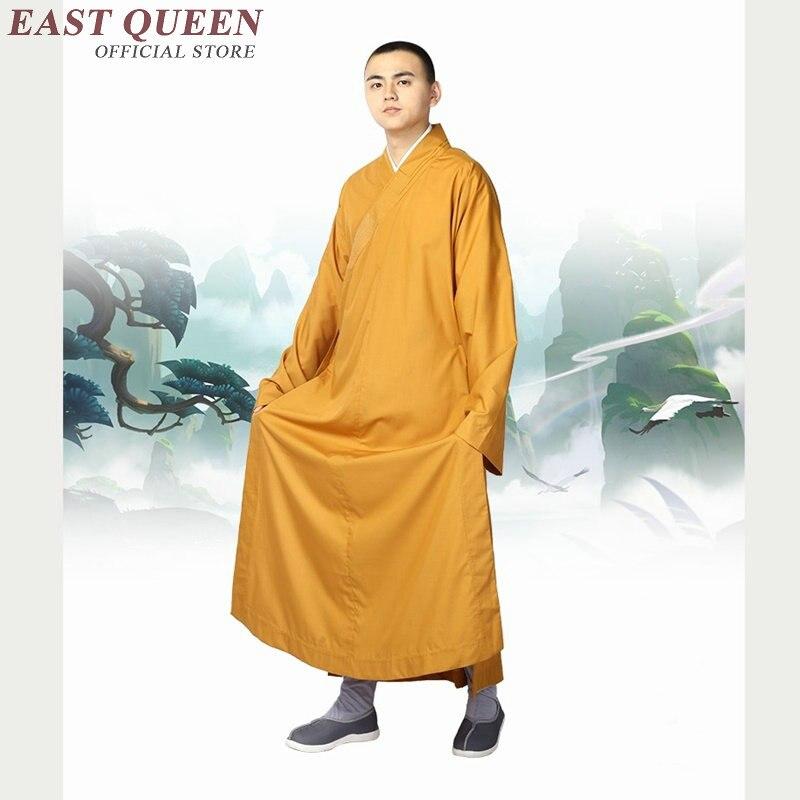 Monaco buddista vesti abbigliamento costume shaolin abbigliamento monaco buddista monaco vestiti uniforme meditazione abbigliamento AA3910