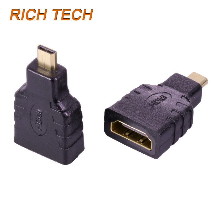 15 pcs HDMI female jack to micro HDMI plug for HDMI cable connect mobile phone with HDTV 1.4version HDMI connector adaptors