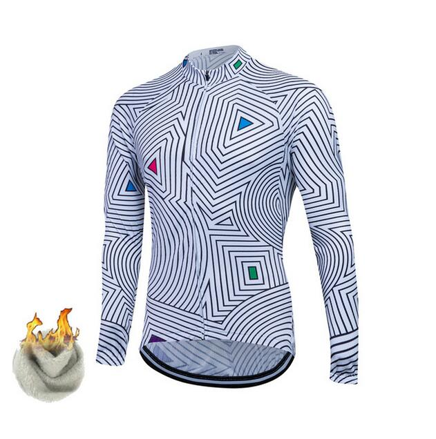 2017 Thermal Cycling Jersey Winter Fleeced 6 color Ropa Ciclismo Bike Cycling Maillot Bicycle Wear MTB Cycling Clothing Racing
