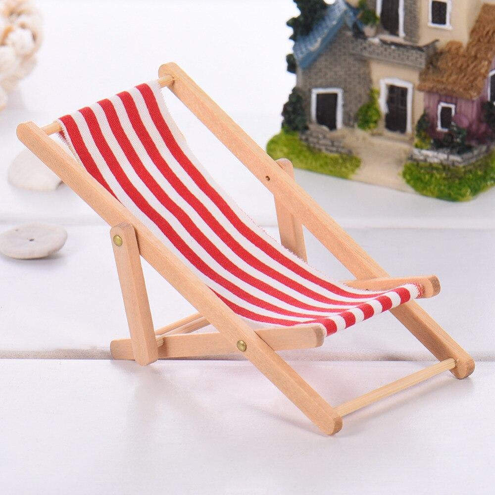 2017 Mini kuća za lutke Drvena stolica za plažu i klupa za - Kućni dekor - Foto 3