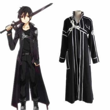 Sword Art Online Kirito Cosplay Costume Coat In Stock Anime Sword Art Online Kirito Cosplay Clothes - DISCOUNT ITEM  5% OFF All Category