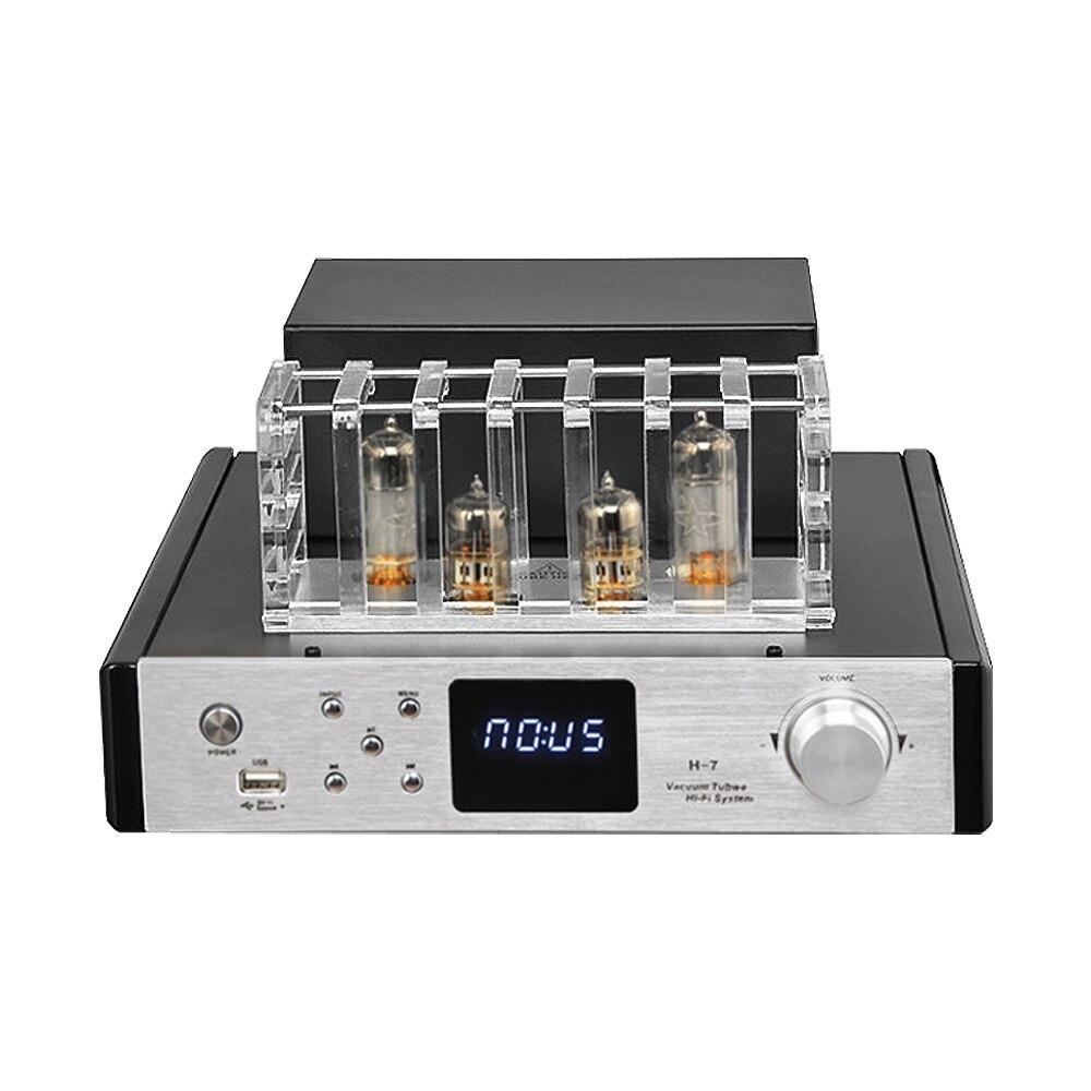 AIYIMA HIFI 6N13 6F1 amplificateur de puissance de Tube 2.1 canal Bluetooth 4.0 100Wx2 amplificateur de Tube Audio d'amplificateur avec entrée coaxiale de Fiber