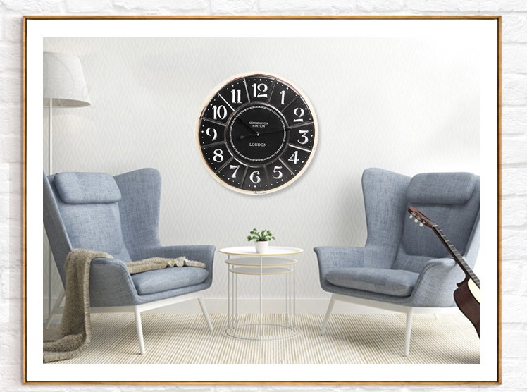 Retro fashion creative clock font b watch b font American style living room bar mute big