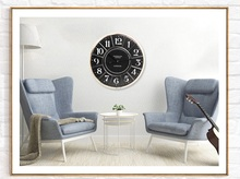 Retro fashion creative clock watch American style living room bar mute big clock wall clock