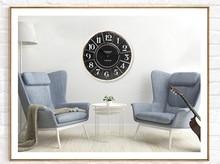 Retro fashion creative clock watch American style living room bar mute big clock wall clock