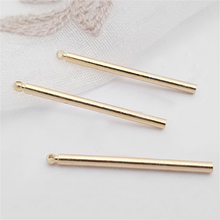 10PCS Length 30MM,thickness 2MM 24K Champagne Gold Color Plated Brass Round Rod Charms Diy Jewelry Findings недорого