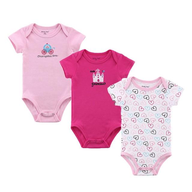dcf8d5de4 100% Cotton Baby Bodysuit Short Sleeve Newborn Baby Underwear Autumn ...