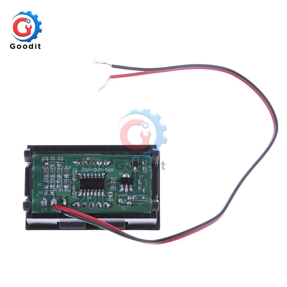"CC 4,5 V-30 V Mini voltímetro Digital amperímetro Panel Amp voltímetro voltaje medidor de corriente 0,56 ""Azul Rojo doble pantalla LED"