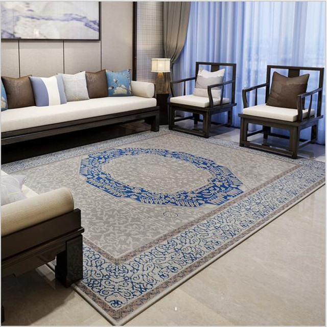 Mediterranean Rugs And Carpets For Home Living Room Europe Bedroom Floor Mat Study Restaurant Area Rug Coffee Table Carpet
