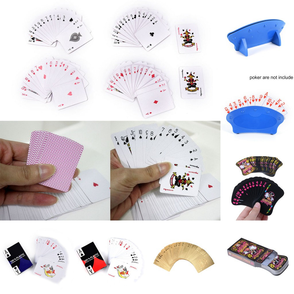 5 Styles Playing Cards Luminous Poker Gold Foil Poker Blue Card Holder Family Travel Entertainment Game Cards