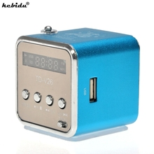 Kebidu Portable haut parleur TD V26 Mini Portable en aluminium USB haut parleur son stéréo FM Radio soutien TF/SD carte de haute qualité