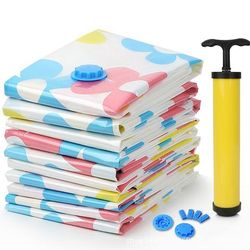 11 Pcs/ Set Thick Vacuum Storage Bag Vacuum Compressed Bag Blanket Clothes Quilt Organizer Bags with Hand Pump Hot Sale