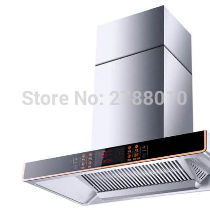 kitchen ventilator dark walnut cabinets online shop smoke exhaust large suction household range hood stainless steel exhauster cxw
