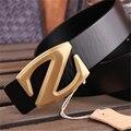Натуральная Кожа Z Пряжка Дизайнерские Ремни Мужчин Высокого Качества Роскошные Мужчины Пояса Ceinture Homme Cinturones Mujer Широкие Ремни MBT0278