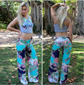 New Fashionable Mid-Waisted Floral Print Loose-Fitting Women's Pants 18